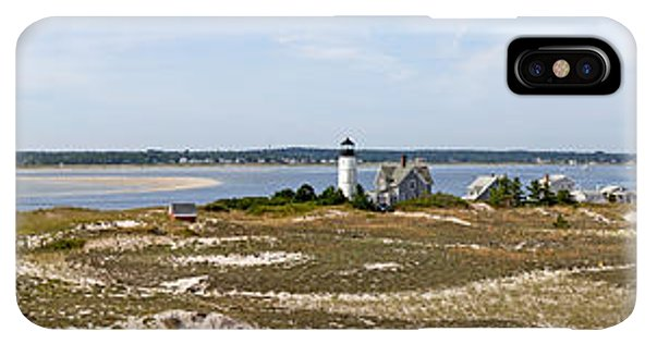 Sandy Neck Lighthouse With Fishing Boat - Phone Case