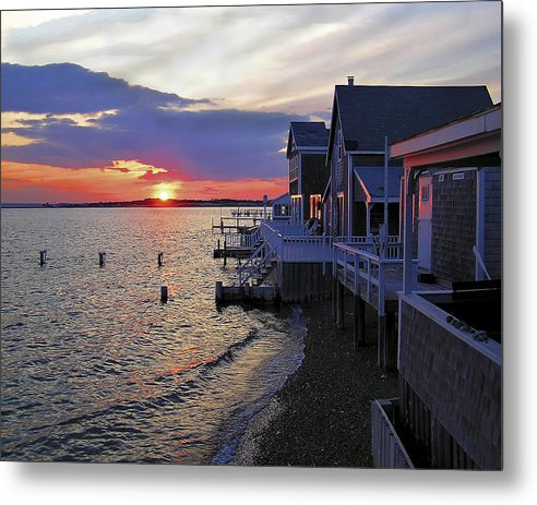 Sandy Neck Sunset At The Cottages - Metal Print