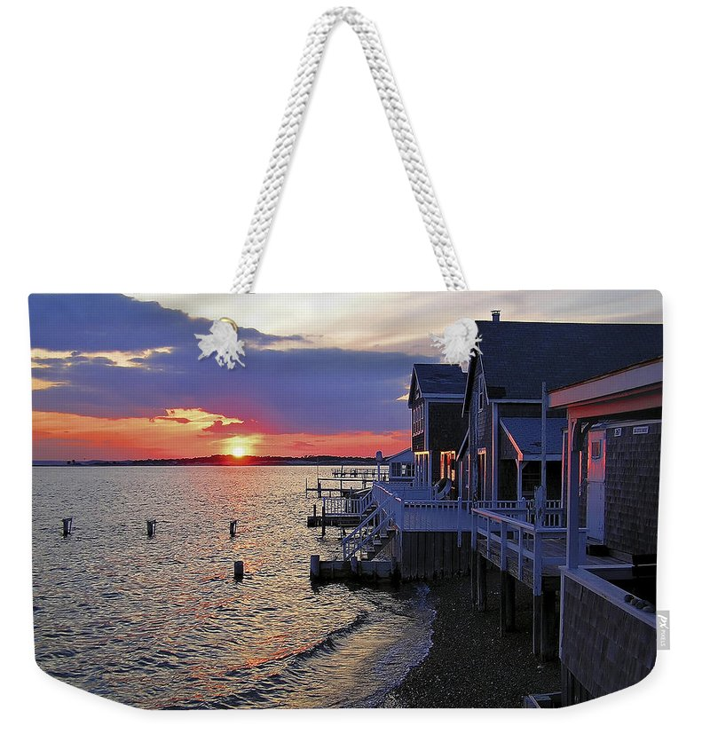 Sandy Neck Sunset At The Cottages - Weekender Tote Bag