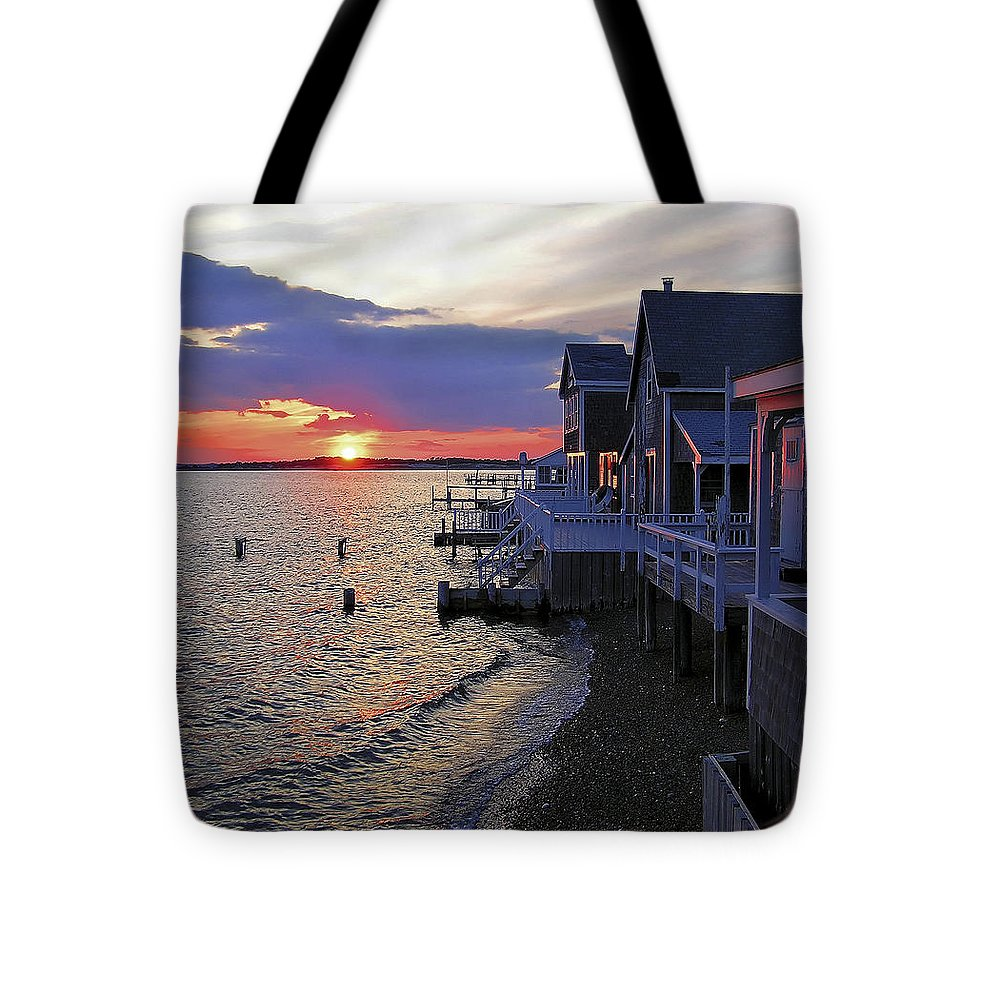 Sandy Neck Sunset At The Cottages - Tote Bag