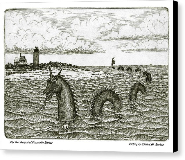Sea Serpent Of Barnstable Harbor - Canvas Print