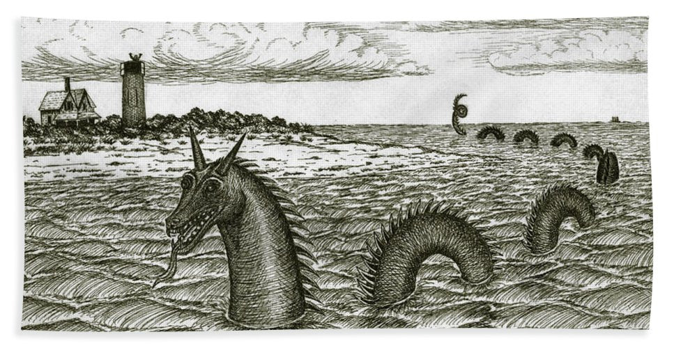 Sea Serpent Of Barnstable Harbor - Beach Towel
