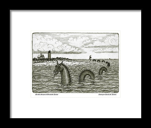 Sea Serpent Of Barnstable Harbor - Framed Print