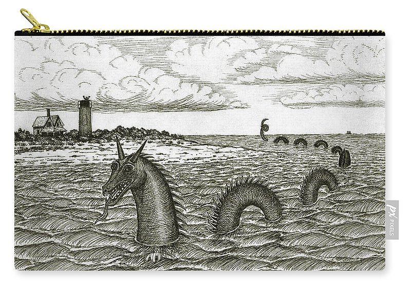 Sea Serpent Of Barnstable Harbor - Carry-All Pouch