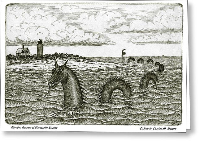 Sea Serpent Of Barnstable Harbor - Greeting Card