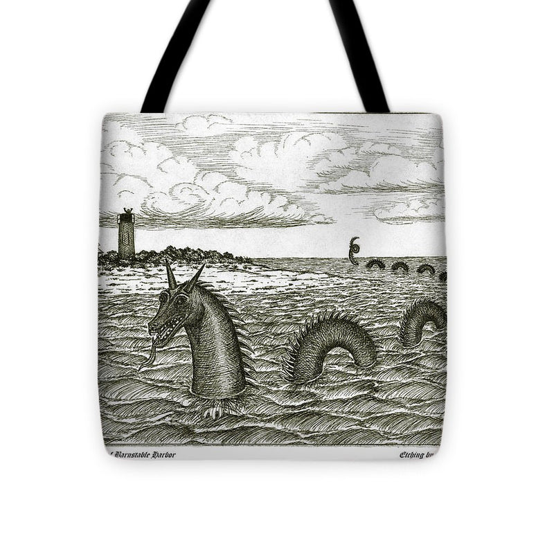 Sea Serpent Of Barnstable Harbor - Tote Bag