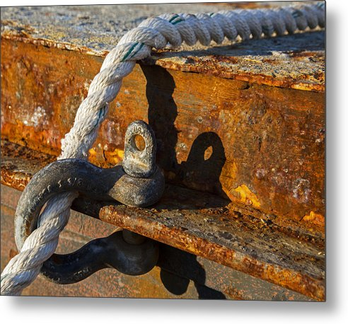Shackle And Rust - Metal Print
