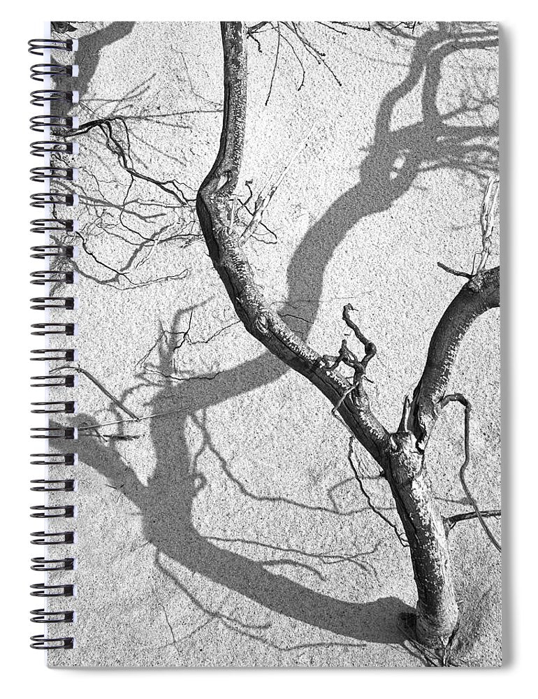 Shadows On The Sand - Spiral Notebook