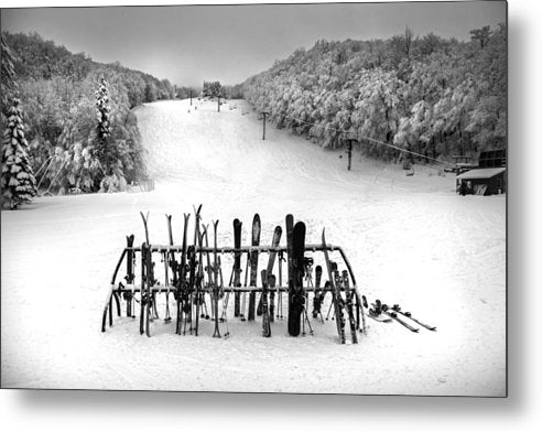 Ski Vermont At Middlebury Snow Bowl - Metal Print