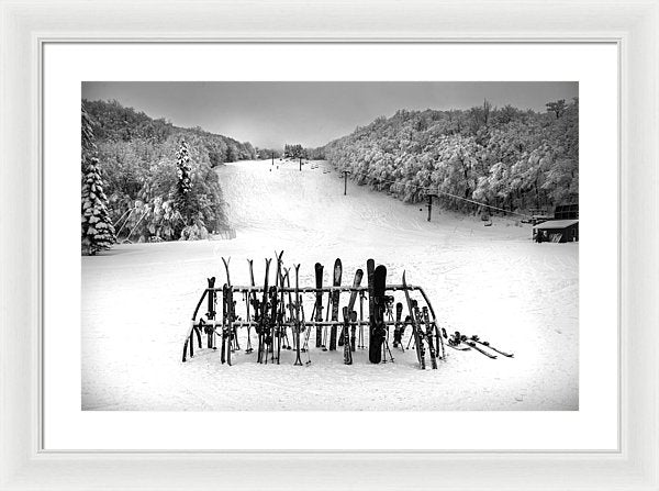 Ski Vermont At Middlebury Snow Bowl - Framed Print