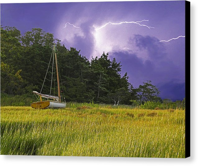 Storm Over Knott's Island - Canvas Print