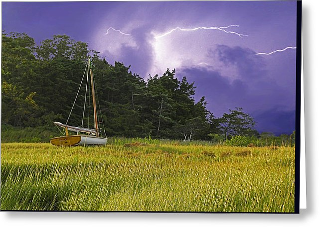 Storm Over Knott's Island - Greeting Card