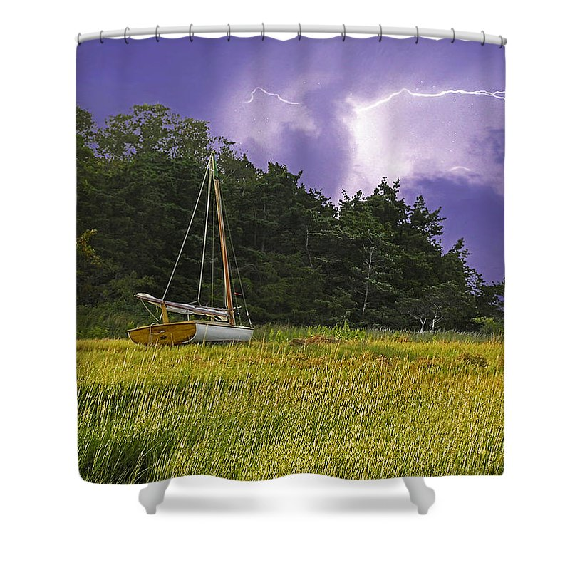 Storm Over Knott's Island - Shower Curtain
