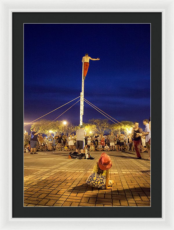 Street Performer Key West - Framed Print