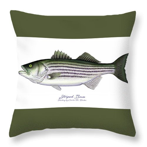 Striped Bass - Throw Pillow