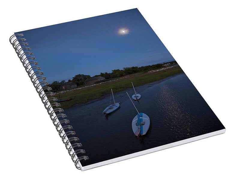 Sunfishes In Moonlight - Spiral Notebook