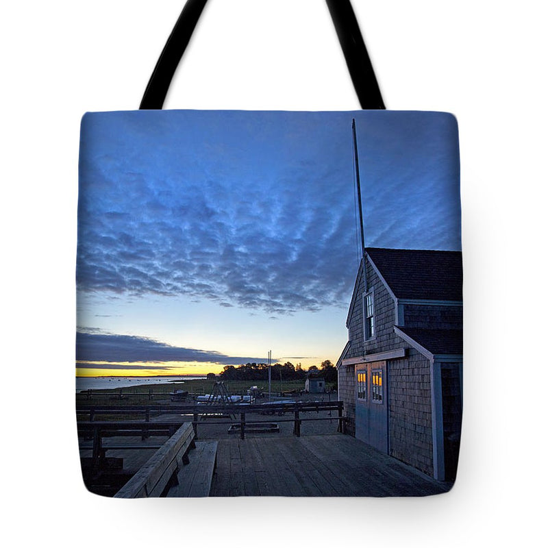 Sunrise At Barnstable Yacht Club - Tote Bag