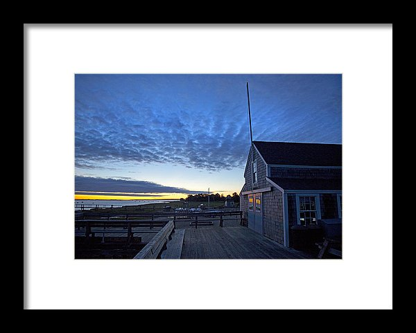 Sunrise At Barnstable Yacht Club - Framed Print