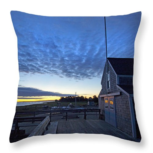 Sunrise At Barnstable Yacht Club - Throw Pillow
