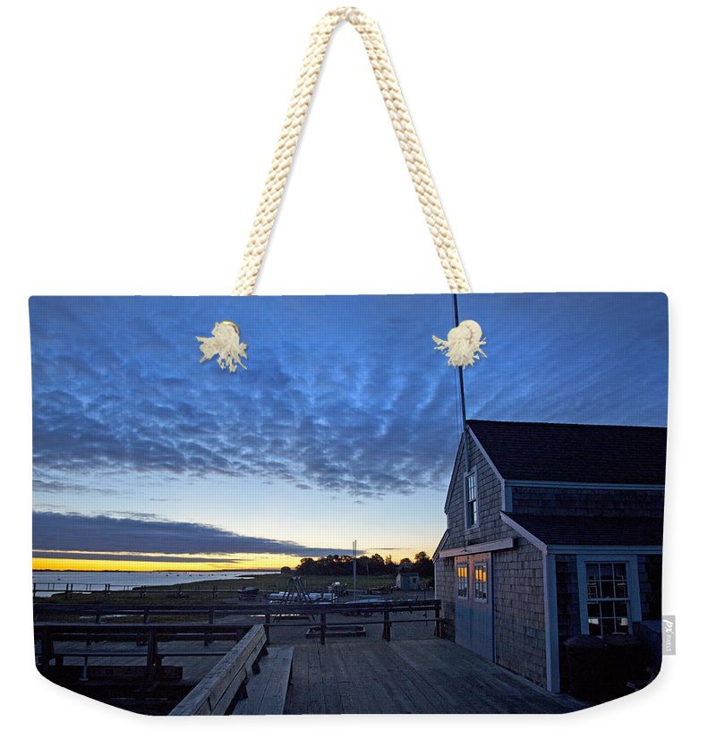Sunrise At Barnstable Yacht Club - Weekender Tote Bag