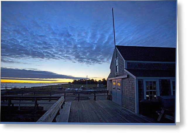 Sunrise At Barnstable Yacht Club - Greeting Card