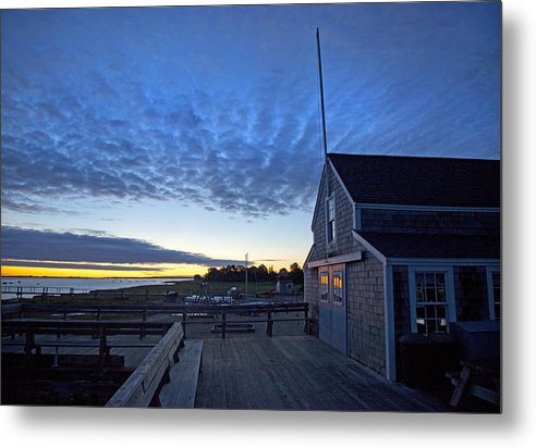 Sunrise At Barnstable Yacht Club - Metal Print