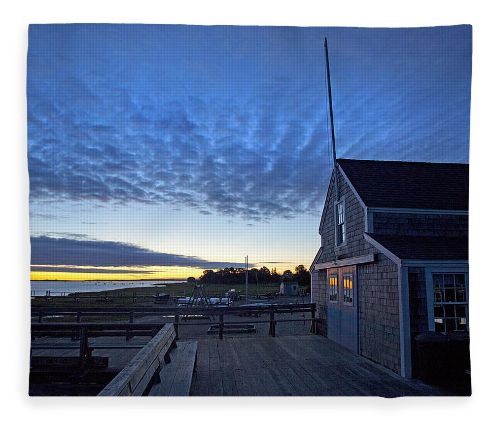 Sunrise At Barnstable Yacht Club - Blanket