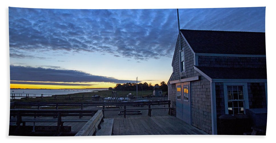 Sunrise At Barnstable Yacht Club - Bath Towel