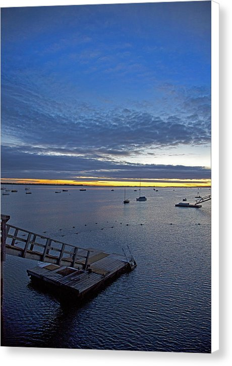 Sunrise At The Barnstable Yacht Club - Canvas Print