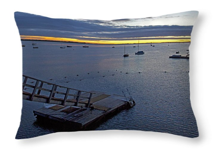 Sunrise At The Barnstable Yacht Club - Throw Pillow