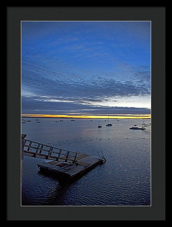 Sunrise At The Barnstable Yacht Club - Framed Print