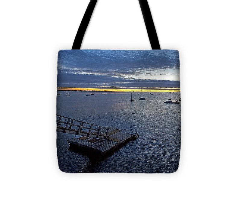 Sunrise At The Barnstable Yacht Club - Tote Bag