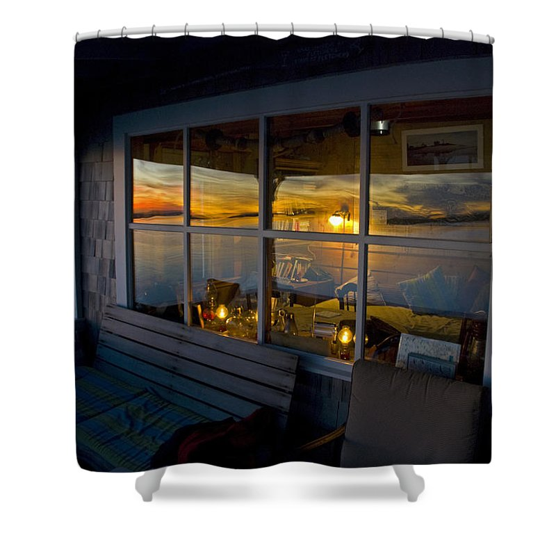 Sunset At Fletchers Camp - Shower Curtain