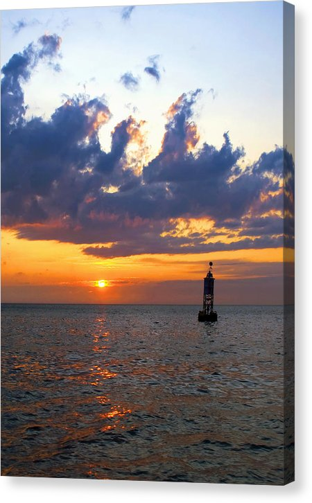 Sunset At The Bell Buoy - Canvas Print