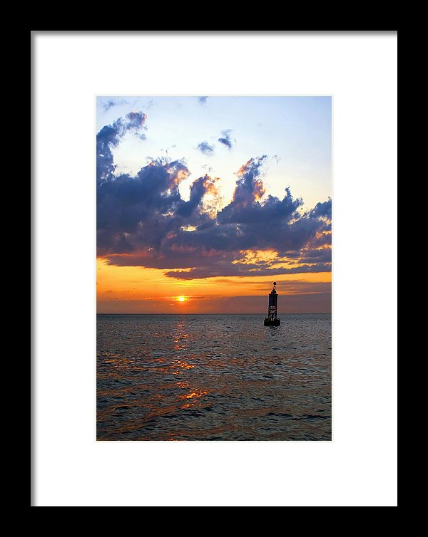 Sunset At The Bell Buoy - Framed Print