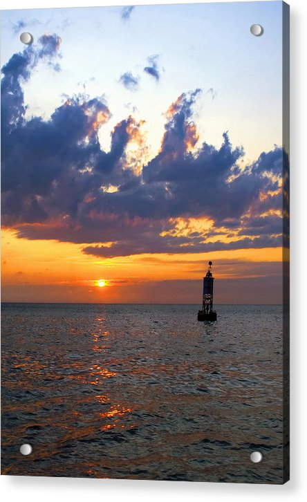 Sunset At The Bell Buoy - Acrylic Print