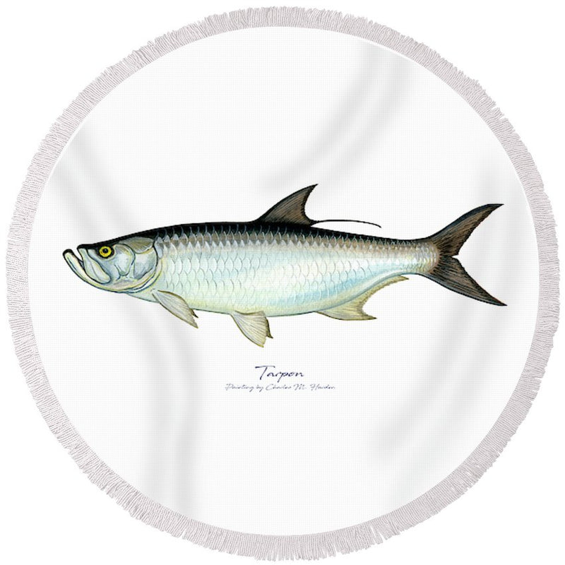 Tarpon - Round Beach Towel