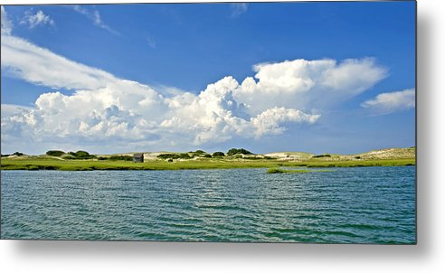 The Handys Camp On Sandy Neck - Metal Print