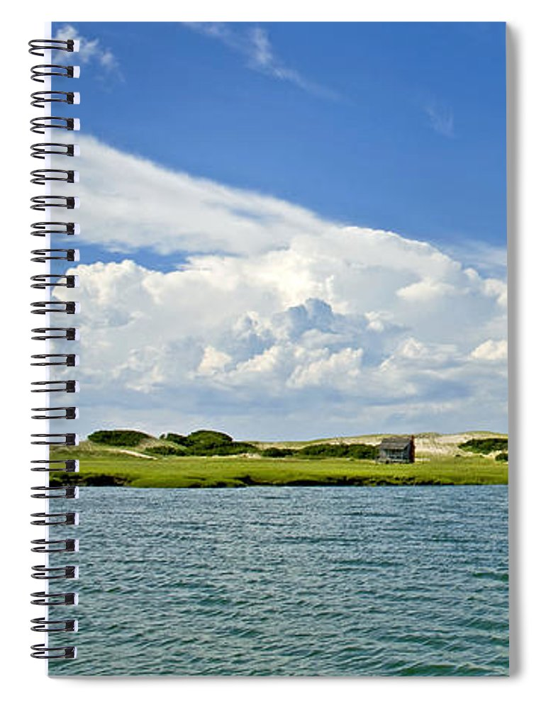 The Handys Camp On Sandy Neck - Spiral Notebook