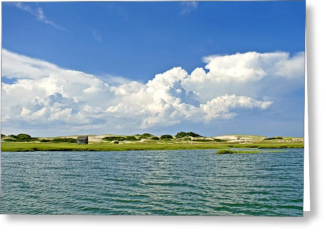 The Handys Camp On Sandy Neck - Greeting Card