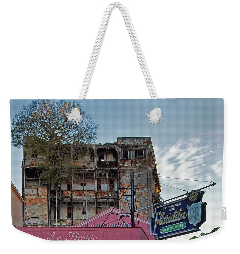 Tree In Building Over La Floridita Havana Cuba - Weekender Tote Bag