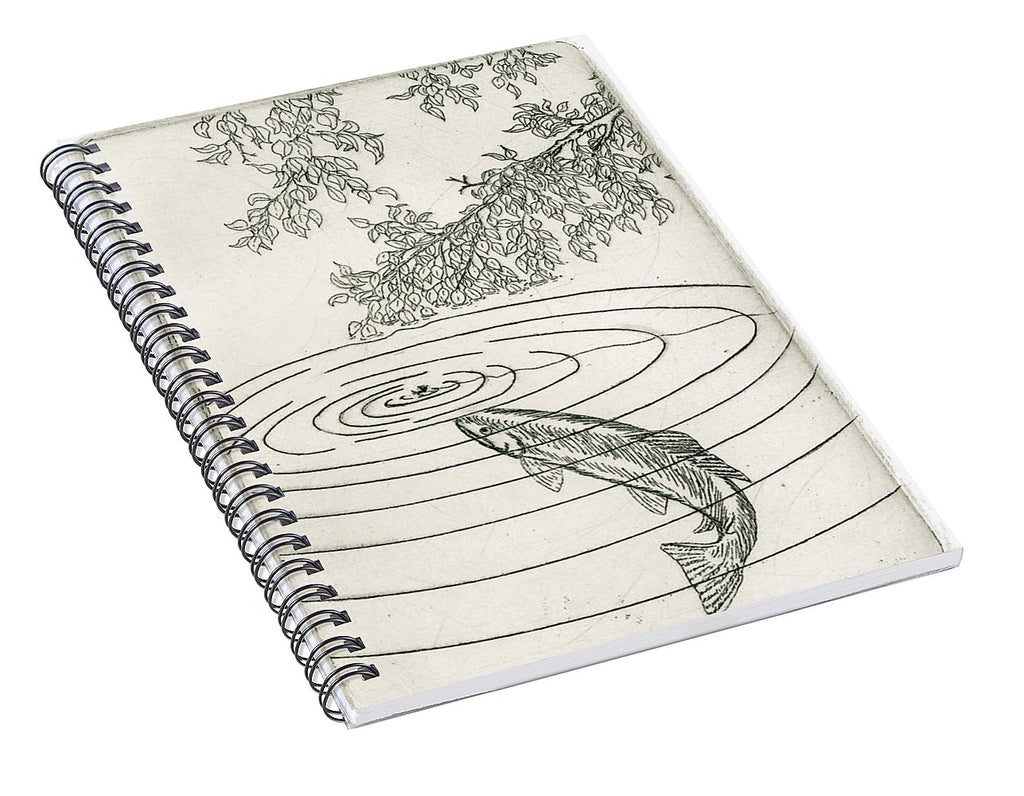 Trout Rising To Dry Fly - Spiral Notebook