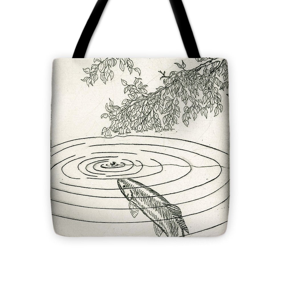 Trout Rising To Dry Fly - Tote Bag