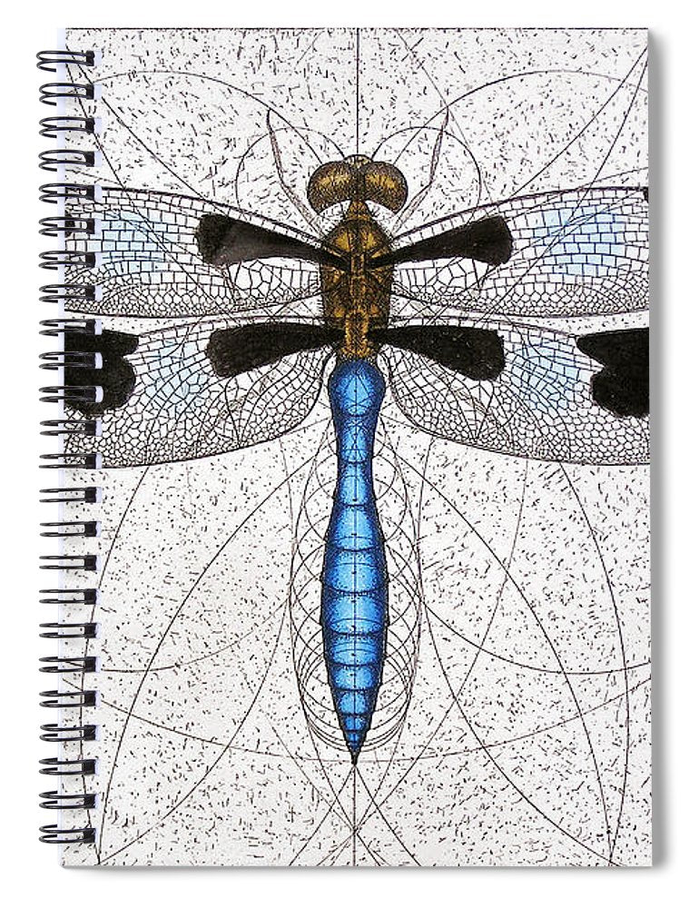 Twelve Spotted Skimmer - Spiral Notebook