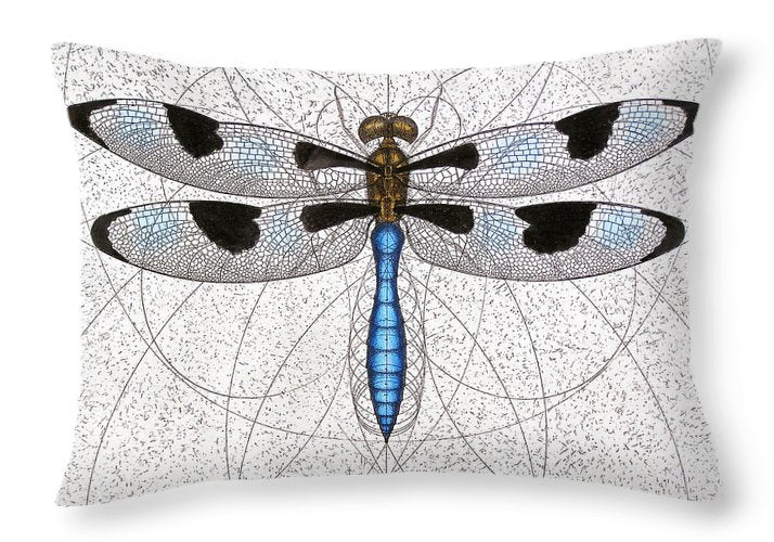 Twelve Spotted Skimmer - Throw Pillow