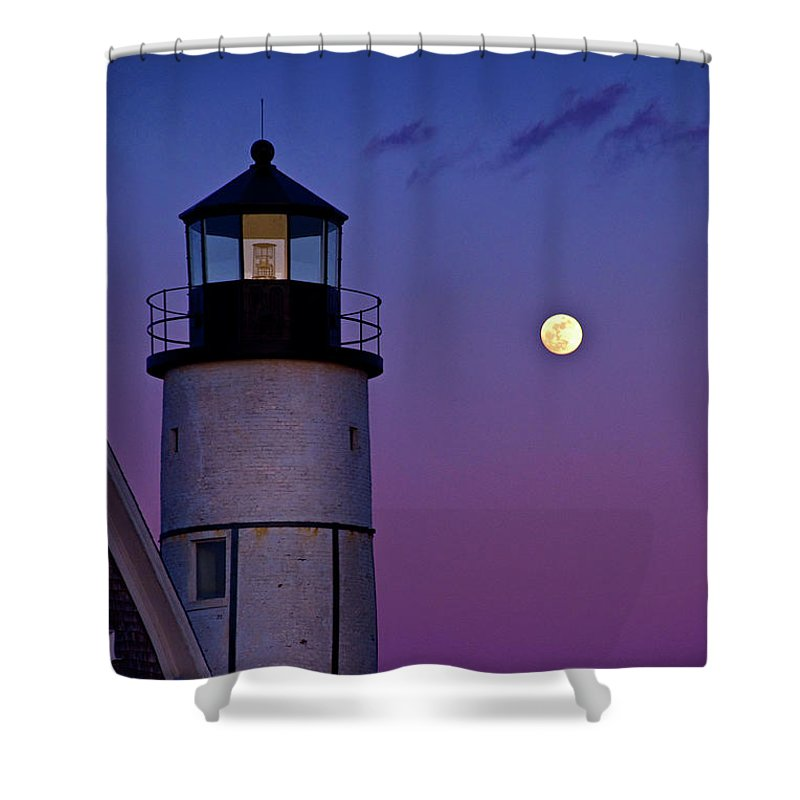 Twilight At Sandy Neck Lighthouse - Shower Curtain
