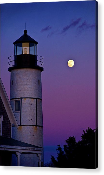 Twilight At Sandy Neck Lighthouse - Acrylic Print