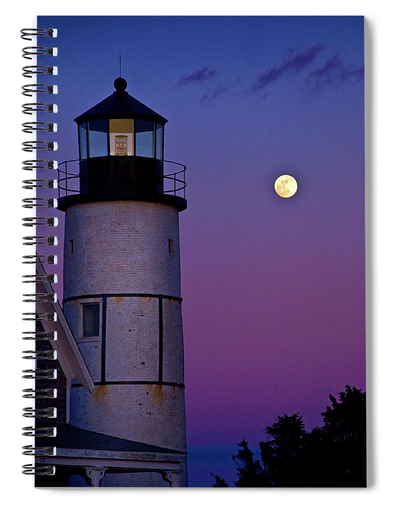 Twilight At Sandy Neck Lighthouse - Spiral Notebook