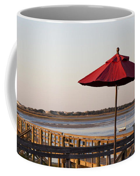 Red Umbrella At Barnstable Harbor - Mug