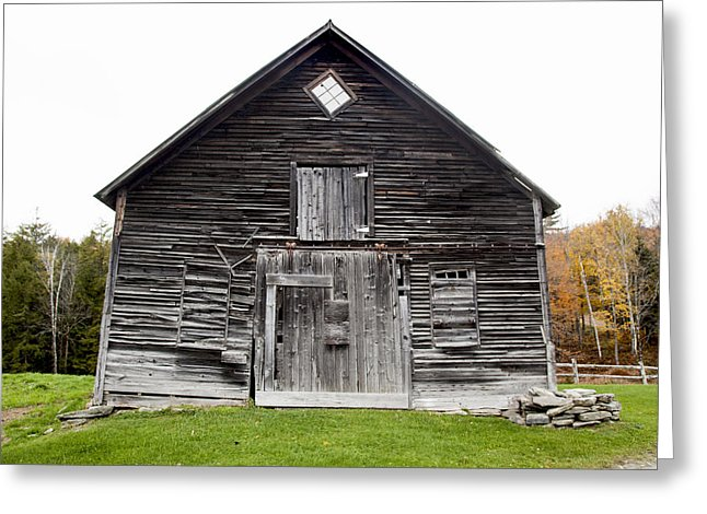 Old Vermont Barn Near Stowe - Greeting Card
